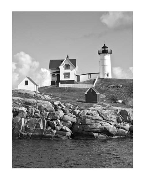 Maine-Nubble-Lighthouse-vertical--B&W
