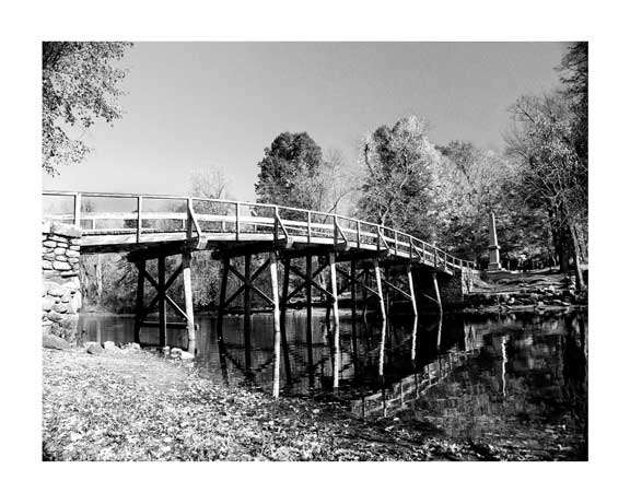New-England-Concord-Bridge-B&W-