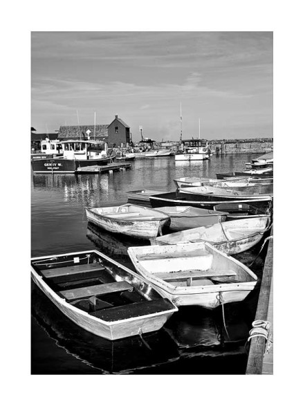 Rockport-MA--Lobster-Boat-B&W