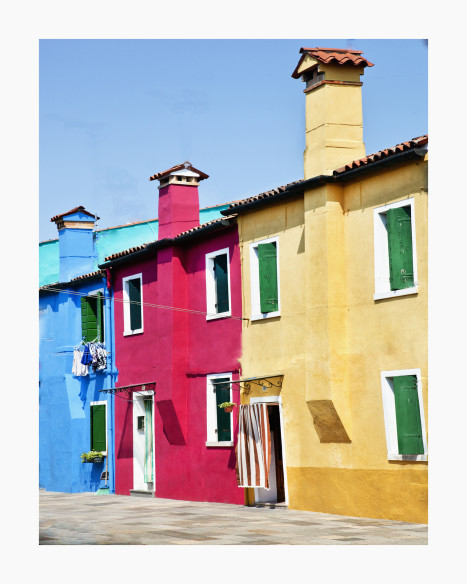 Burano, blue,red, yellow  BU 06